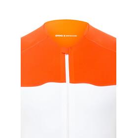 POC AVIP - Maillot manga corta Hombre - naranja/blanco